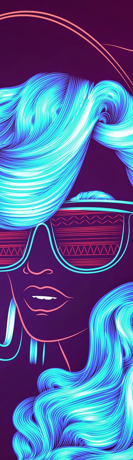 Ilustraciones retro con colores neón por Patrick Seymour