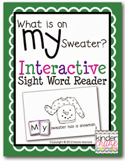 "What is on my Sweater - Interactive sight word reader for ""MY"""