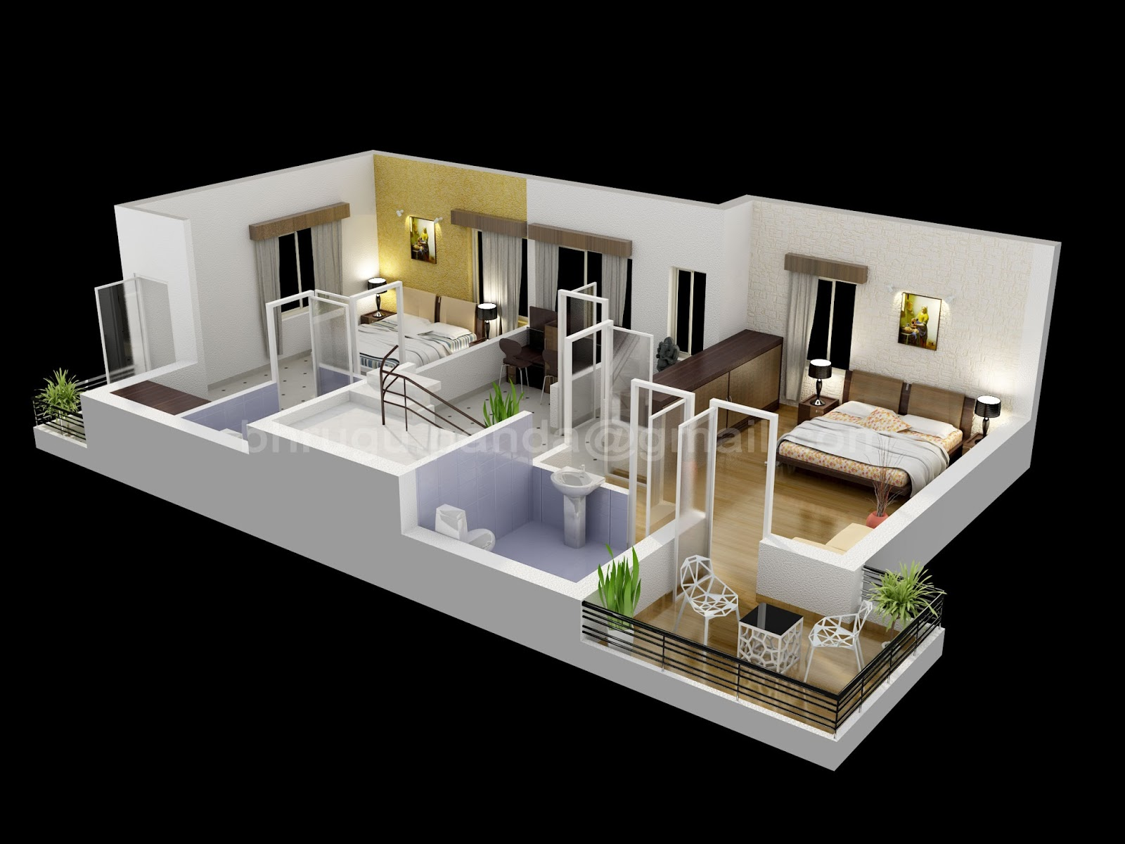 Floor plans 3d 3ds max vray for In plan 3d