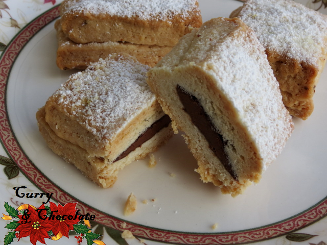 Hojaldrinas rellenas de chocolate (Nutella)