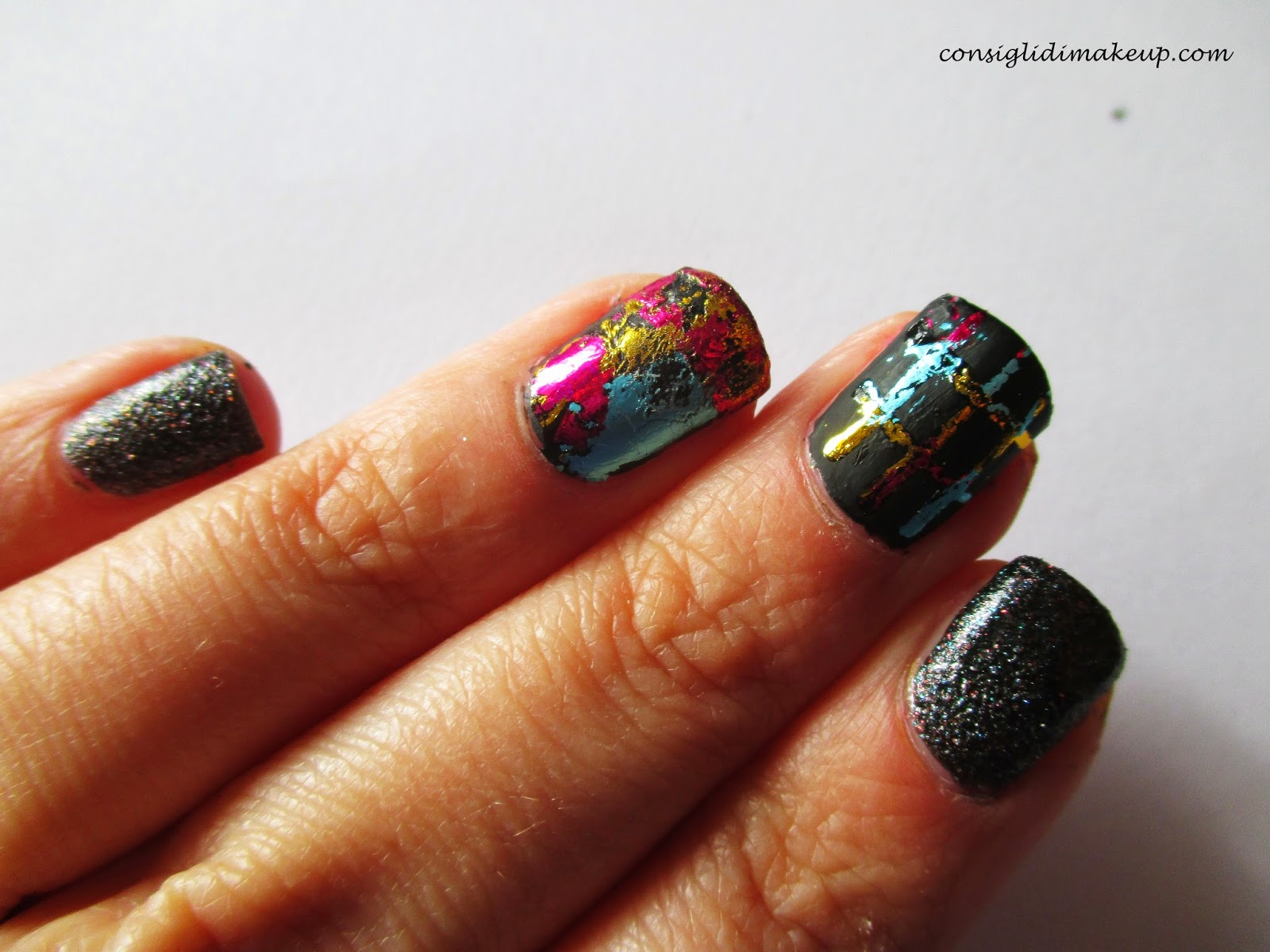 nail art facile foil