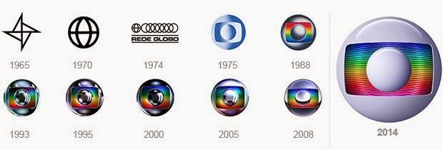 Evolução da marca da Rede Globo.