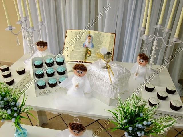 Decoração de batizado Porto Alegre provençal anjinhos