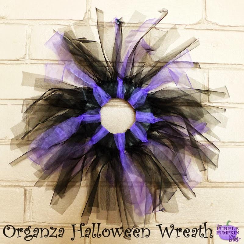 Organza #Halloween Wreath #CraftyOctober