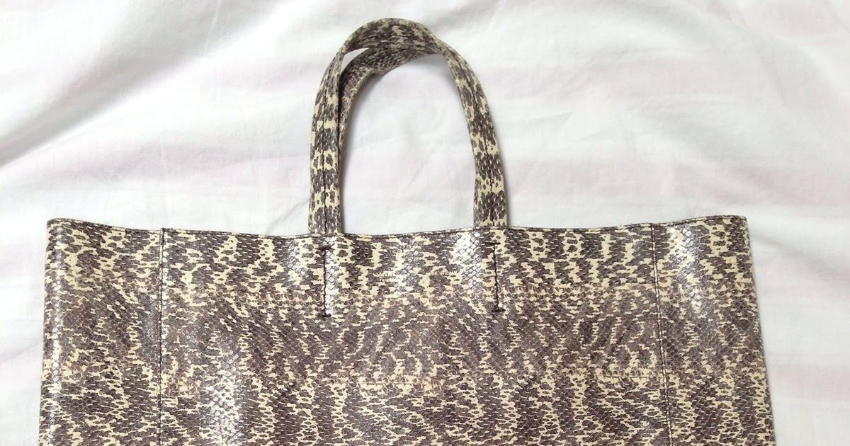 celene handbags - Life is too Short to do Without: Celine-ish Python Bi-Cabas