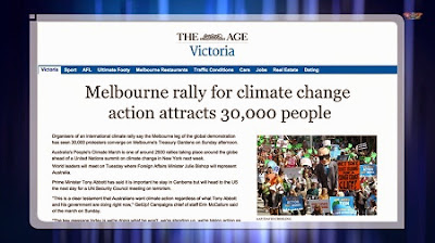 30,000 rally for climate action in Melbourne