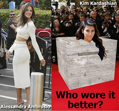 Who wore it better? Kim Kardashian or Alessandra Ambrosio