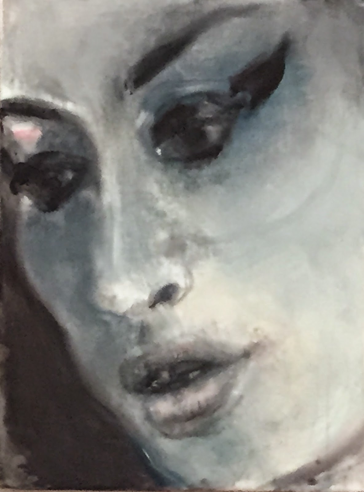 Painting of Amy Winehouse by Marlene Dumas