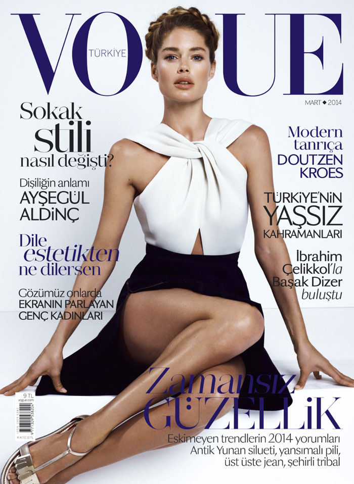 Doutzen Kroes in Lanvin by Alber Elbaz by Cuneyt Akeroglu for Vogue Turkey March 2014
