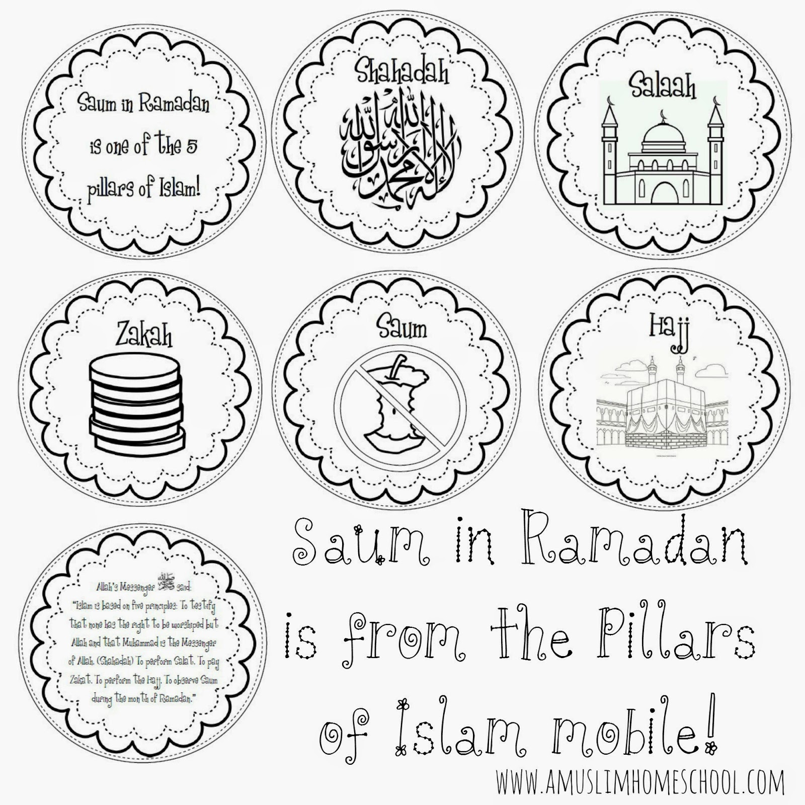 Imans HomeSchool Saum in Ramadan is from the 5 Pillars of Islam – 5 Pillars of Islam Worksheet