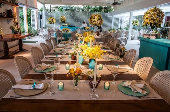 imagens de decoracao de casamento azul e amarelo:Detalhes de Casamento: Decoração azul tiffany, amarelo e marrom!!
