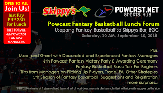 Powcast Fantasy Basketball Lunch Forum