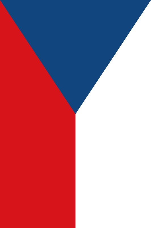 bandera de la Republica Checa para imprimir