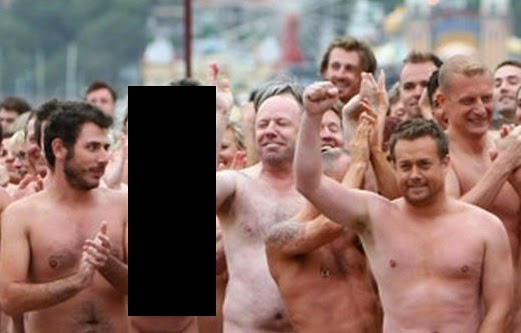 5000 naked bodies in sydney Very, very