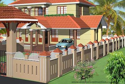 Evens construction pvt ltd compound walls and gates for Compound garden designs
