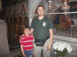 La mormântul lui Ştefan cel Mare, M-rea Putna, 21.V.2011...