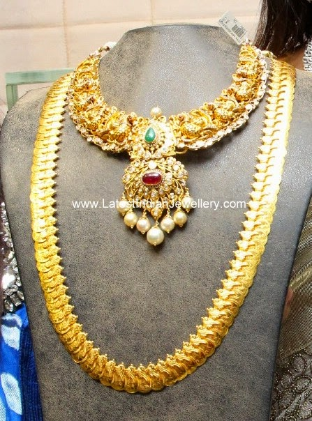antique gold nakshi necklace kasu mala