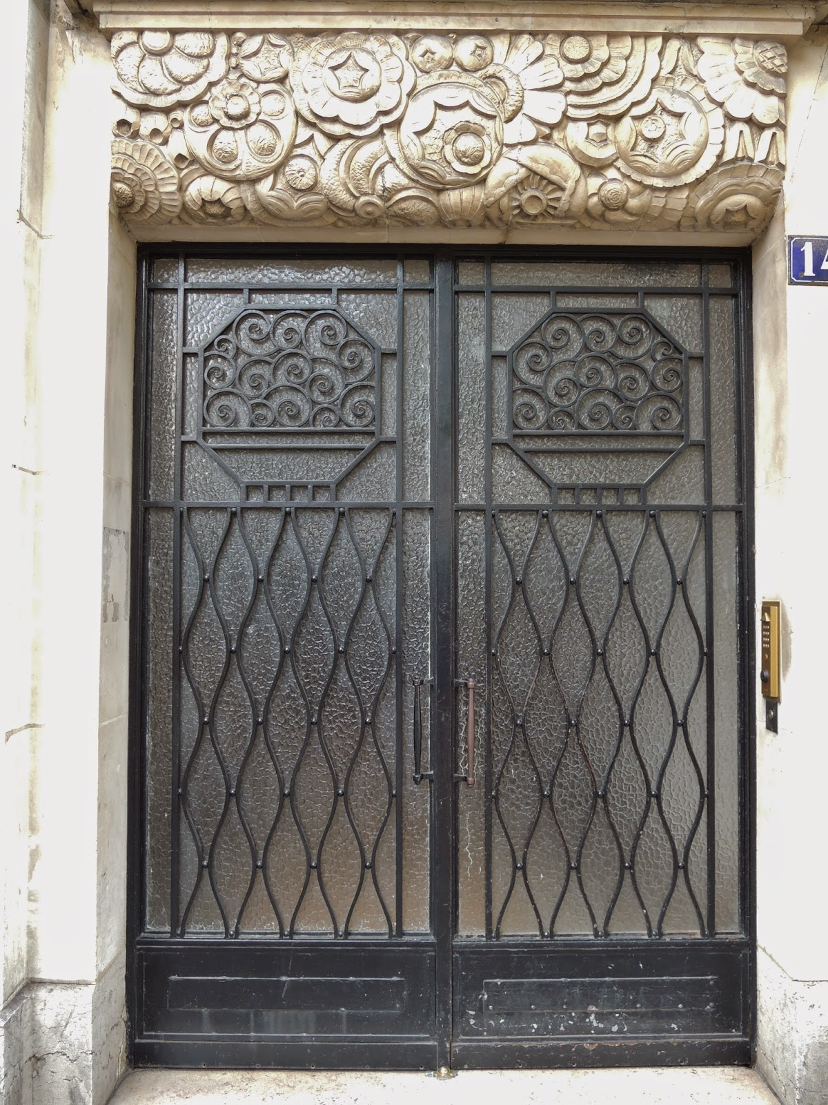 art deco doors, 1929, Paris
