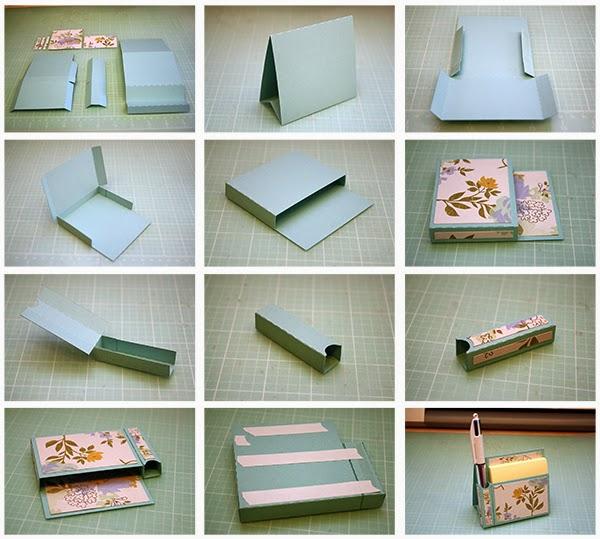 Sticky Note Calendar Diy : Bits of paper easel sticky note holders