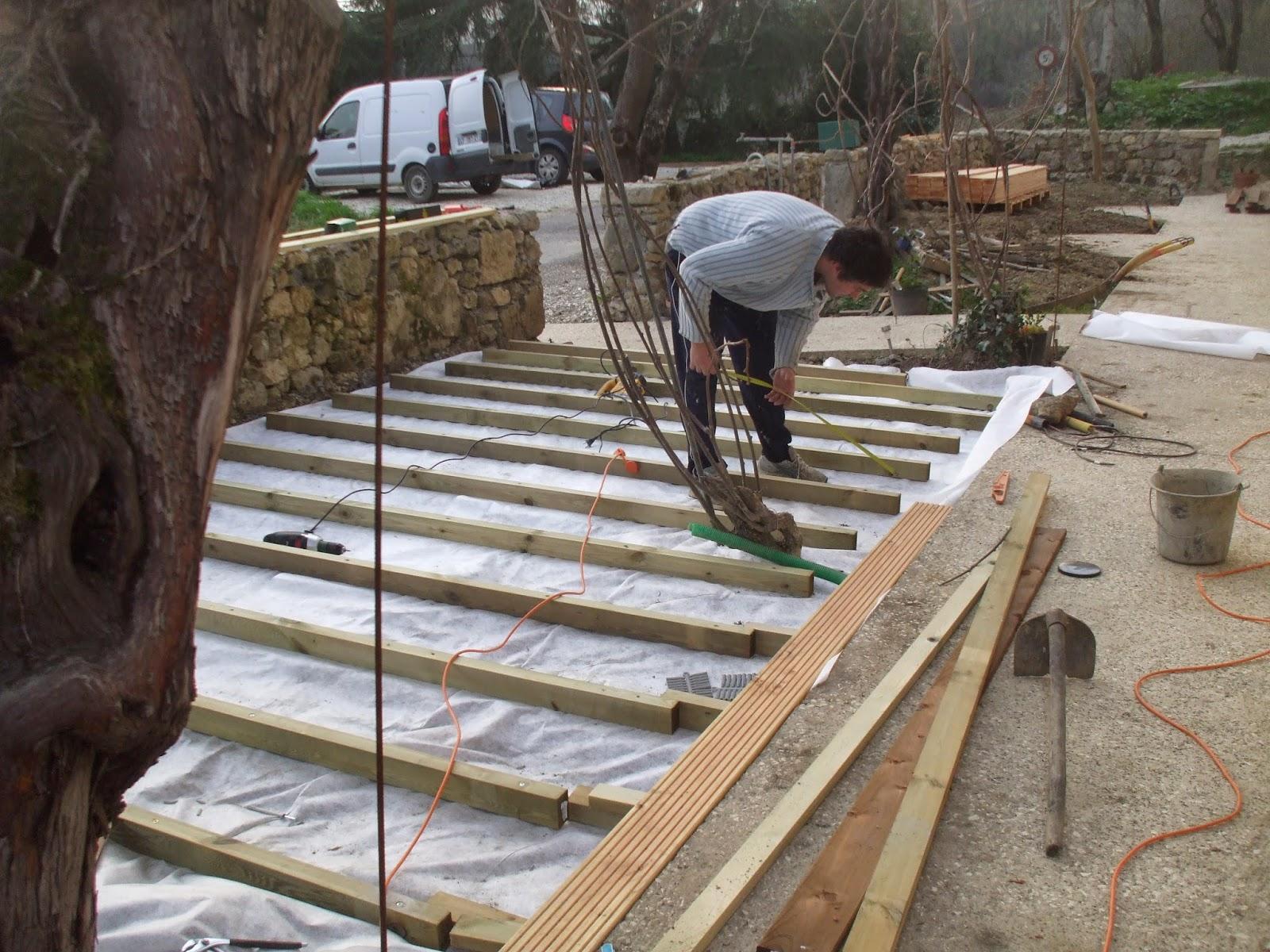 Les terrasses de bessou chantier maintenant 14 15 - Terrasse bois sur parpaing ...