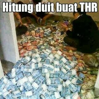 dp bbm thr lucu - hitung duit buat thr