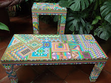 Maya Geometric, bench and table