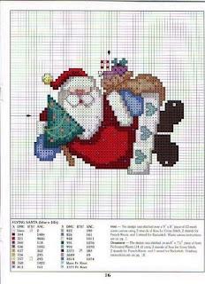 Gráficos para bordado de natal