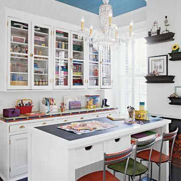 Malu boutiques inspirational wednesday small craft room organiztion ideas - Craft room furniture ...