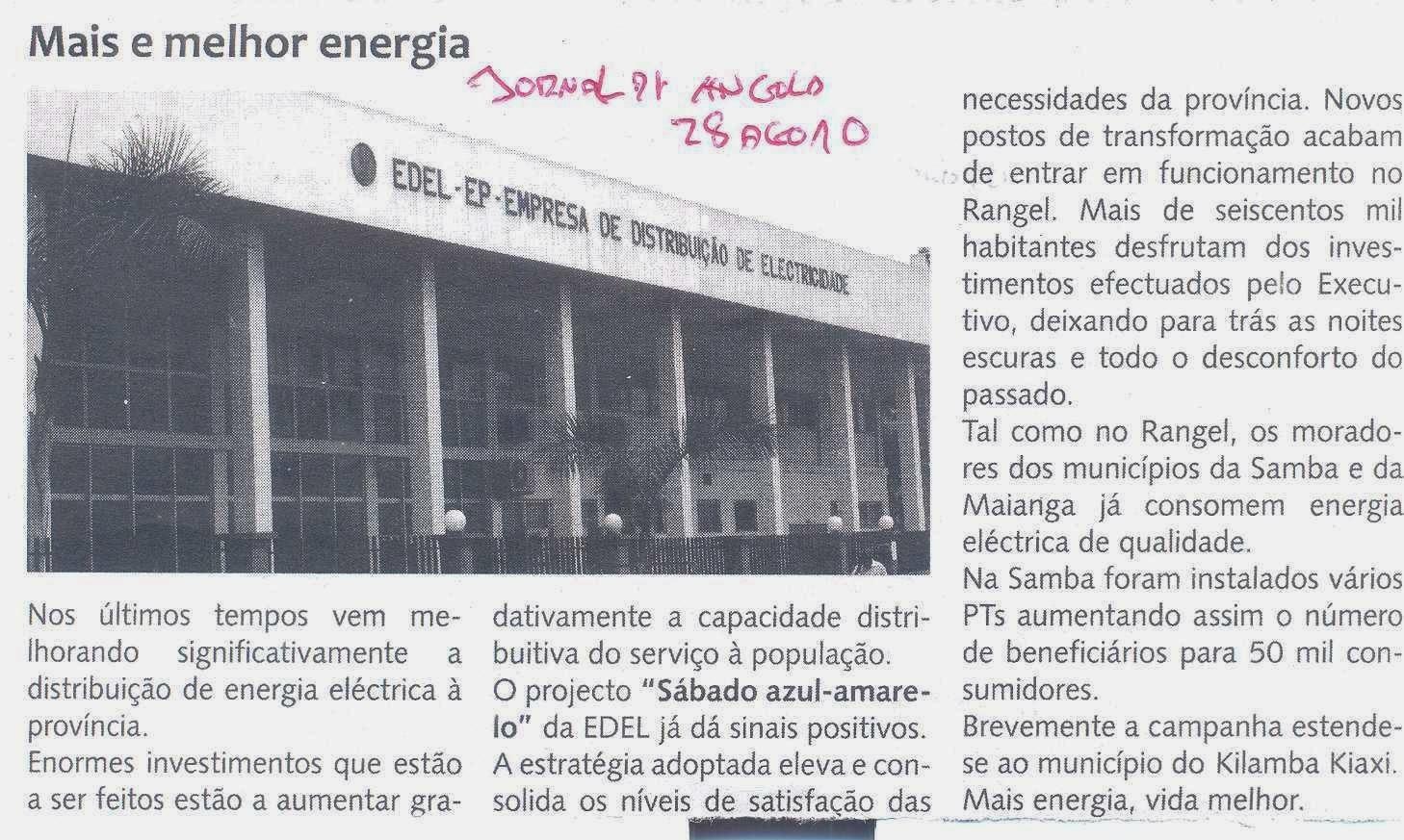 Luanda, três meses sem energia eléctrica