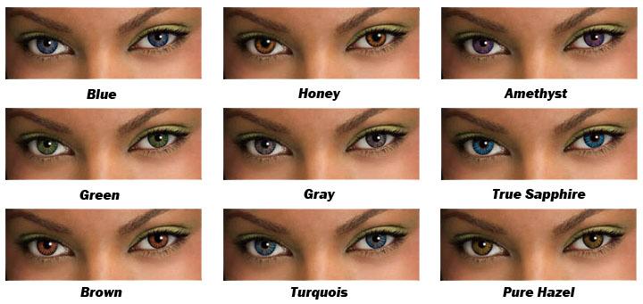 цветные контактные линзы для карих глаз