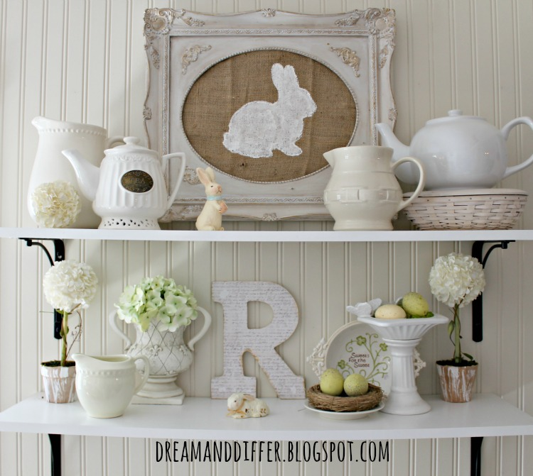 Dream and differ pottery barn inspired easter art and a for Rabbit decorations home