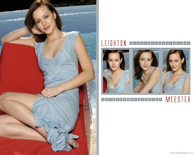 Hollywood Famous American Actress Leighton Meester Wallpaper