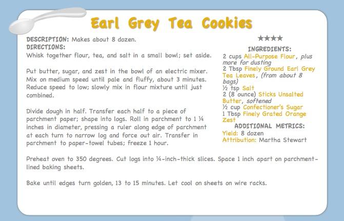 flibbertigibbet: earl grey tea cookies, or the cookie jar's already ...