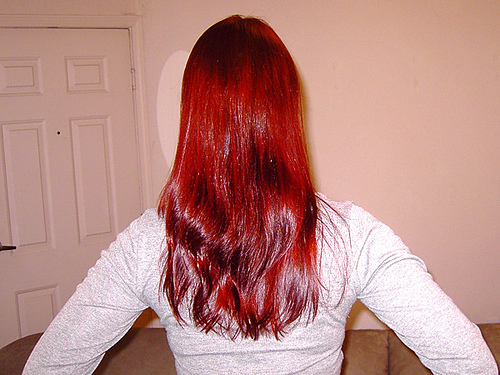 henna design hair color