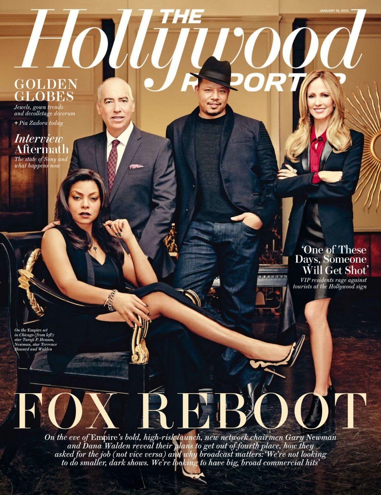 Taraji P Henson - The Hollywood Reporter, USA, January 2015