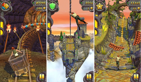 Screenshots of Temple Run 2