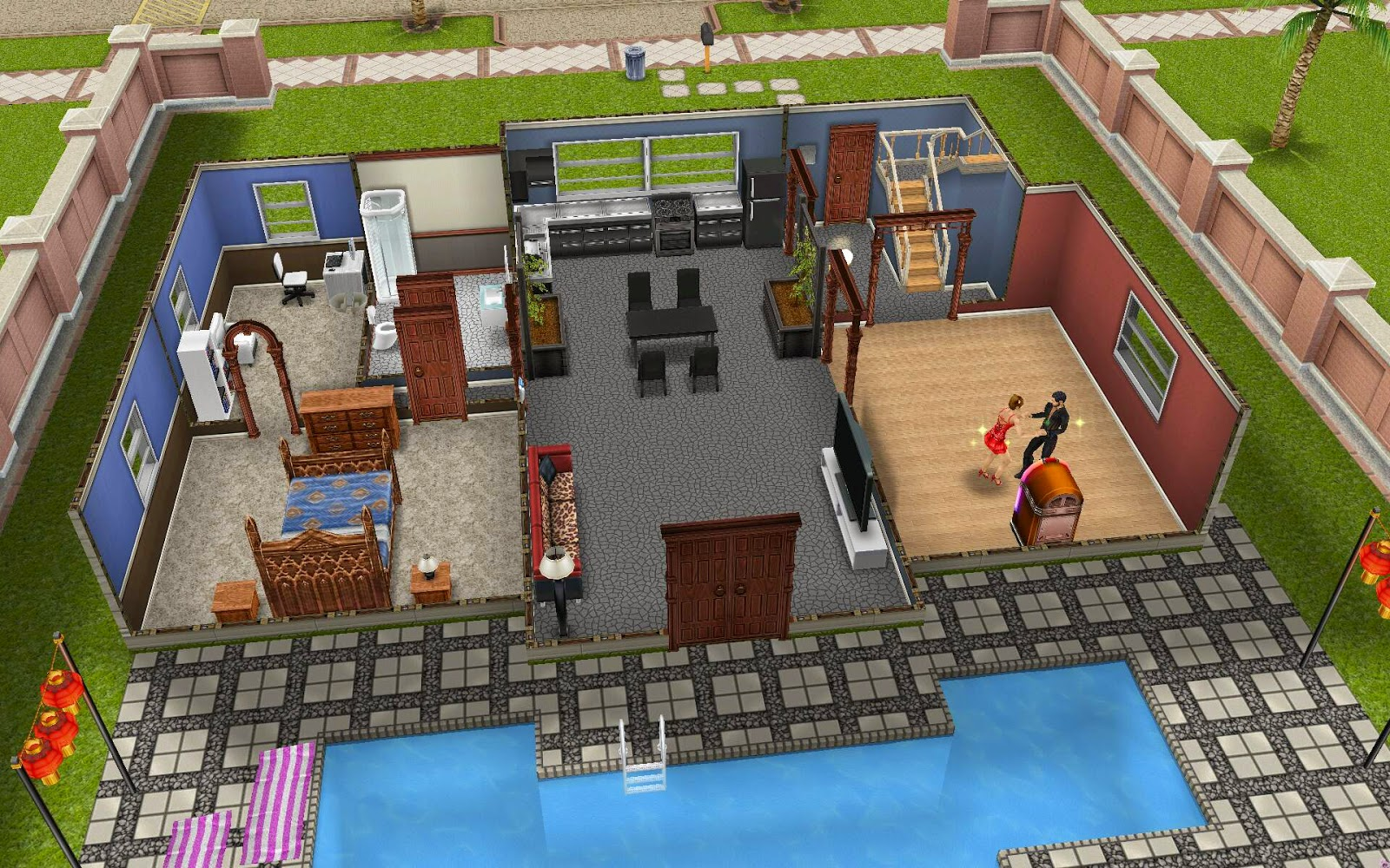 Sims Freeplay Housing Dance Villa