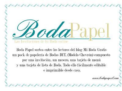 Boda Papel sortea Pack de plantillas personalizables de Boda
