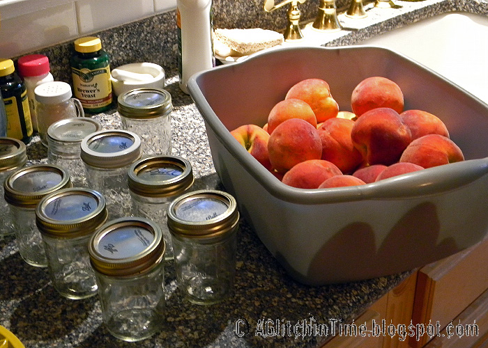 Peaches- about to be washed and peeled.
