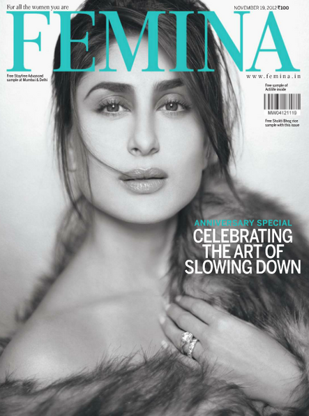 Kareena Kapoor Femina India November 2012 Issue