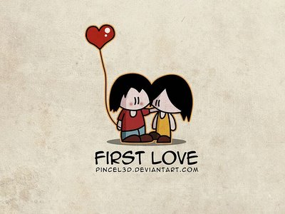 First Love from pincel3d.deviantart.com
