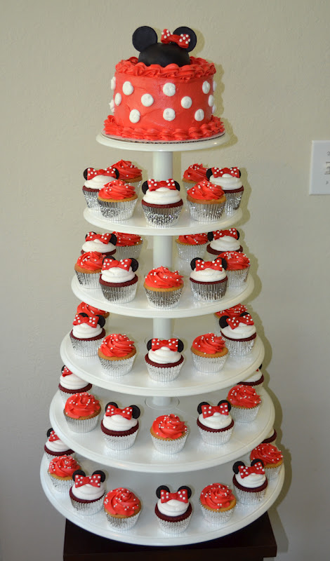 SweetCakeRN Minnie Mouse Cupcake Tower