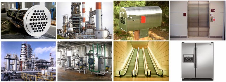 Oil and gas exploration and processing equipment • Marine and other high chloride environments • Pulp and paper digesters, liquor tanks and paper machines