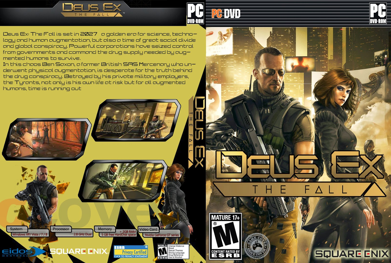 Capa Deus Ex The Fall PC [Exclusiva]