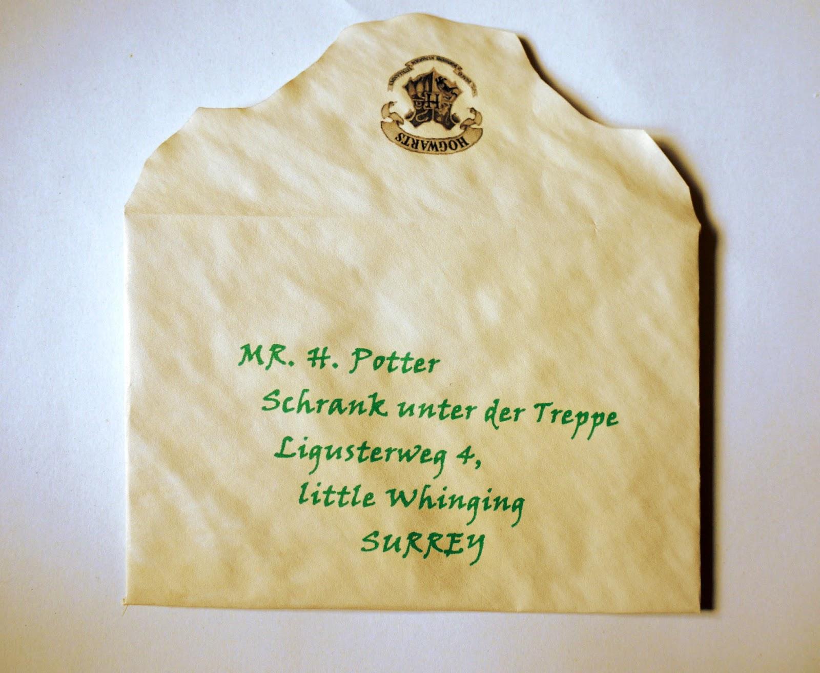 do it (for) yourself: mein hogwarts brief - diy - selber machen, Einladung