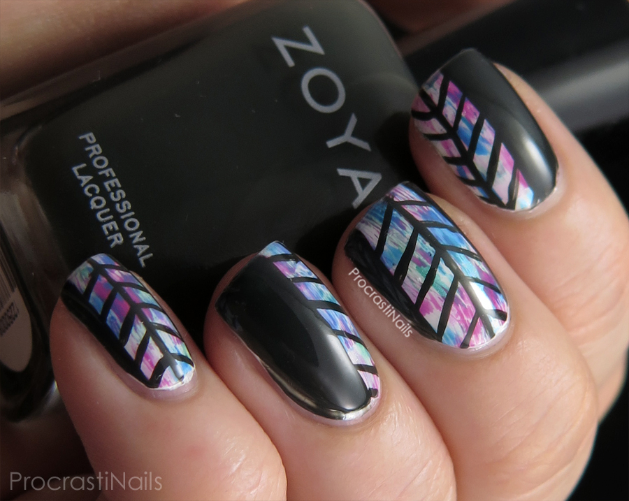 Coachella Inspired Herringbone Nails With Zoya And Cnd Vinylux