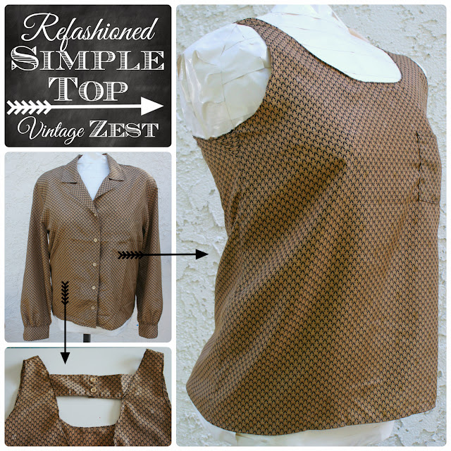 Challenge #5: A (Refashioned) Simple Top!: Diane's Vintage Zest!
