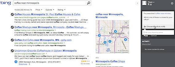 Utilizatorii Bing pot da tag prietenilor din Facebook direct din pagina de cautare