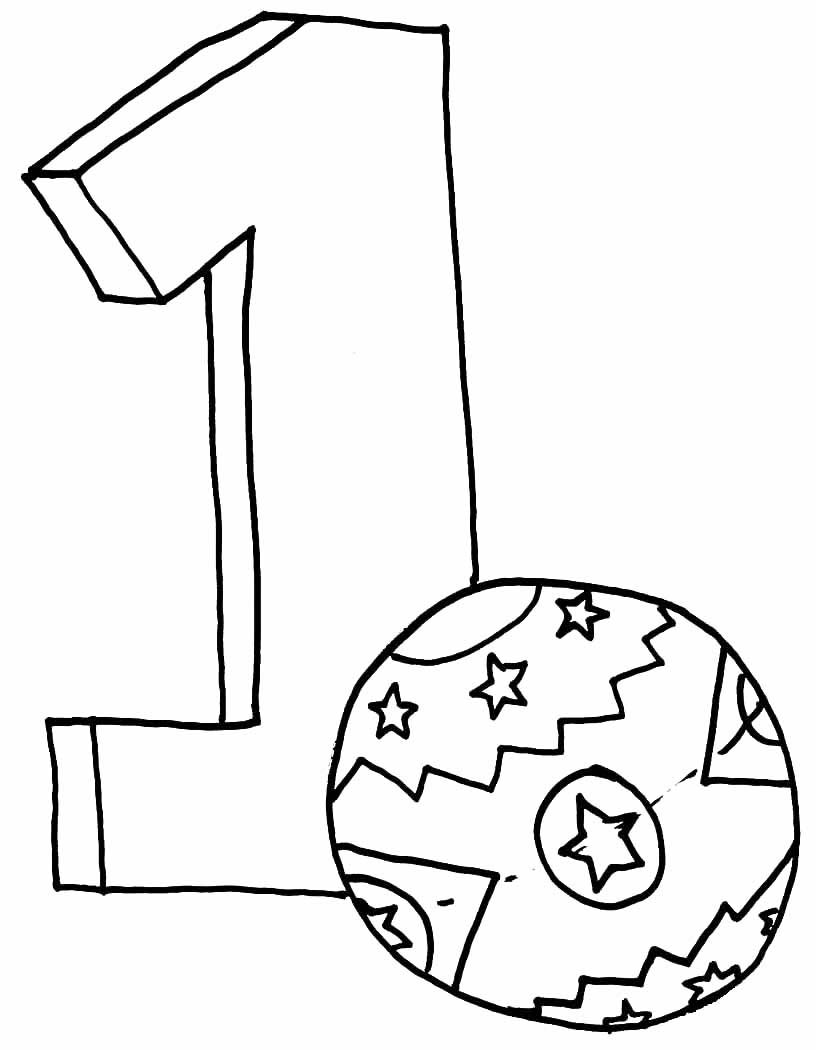 1 one number one coloring pages for kids