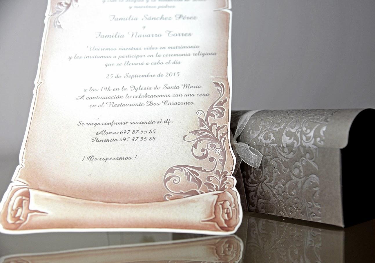INVITACION DE BODA 34909 CARDNOVEL